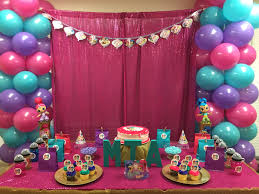 shimmer and shine birthday party diy inspiration of princess party decorations
