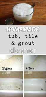 Homemade tub, tile, and grout cleaner - 1/2c baking soda 1/