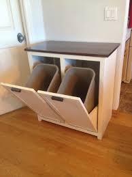 wooden kitchen trash cans tilt out trash bins tilt out trash bin