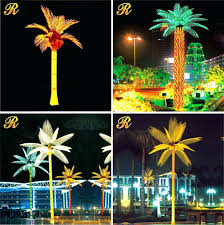 palm tree outdoor light factory led decoration solar landscape up