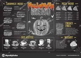 Menu Drawing Design Vintage Chalk Drawing Halloween Menu Design Restaurant Menu