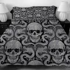 gothic metal skulls dragons bedding