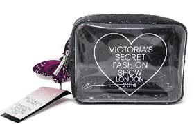 victoria s secret glitz glitter fashion show makeup bag cosmetic travel case