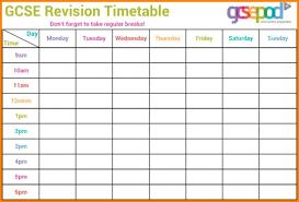 Revision Schedule Template Revision Timetable Template Comprandofacil Co