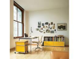 storage for home office. USM Haller Desk \u0026 Storage In A Home Office Configuration For