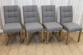 grey upholstered dining chairs. button back chairs grey upholstered dining