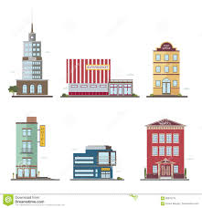 Small School Building Design Modern Buildings In Different Architectural Styles Stock
