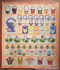 Quilt Inspiration: Glorious basket quilts & This fabulous row quilt features Dresden baskets, wonky baskets, pots of  tulips, and honey bees! Pat Fuller says that she was inspired by a basket  quilt ... Adamdwight.com