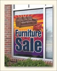 furniture sale banner. Plastic Window Signs - Furniture Furniture Sale Banner
