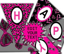 happy birthday customized banners editable banner diva birthday banner printable