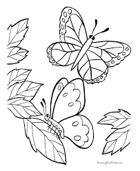 Butterfly Coloring Book Pages 010