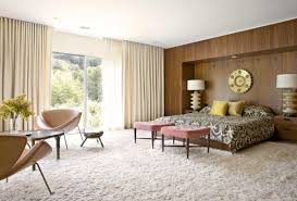 Mid Century Modern Bedroom Mid Century Modern Eclectic Bedroom Dark Brown Hickory Wood Table