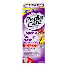 Pediacare Children Cough Runny Nose Cherry Flavor 4 Oz