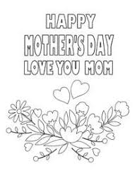 Mothers day rabbit i love you mom. Free Printable Mother S Day Coloring Cards Cards Create And Print Free Printable Mother S Day Coloring Cards Cards At Home