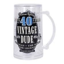 it is a beer mug that any man turning 40 would love to have this is the perfect matching 40th birthday gift for him you can judge with the image