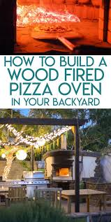 collage of backyard wood fired pizza oven photos optimized for