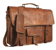 com leather genuine men s auth real leather messenger laptop briefcase satchel mens bag 11x15 computers accessories