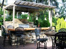 Backyard Designs With Pool And Outdoor Kitchen Awesome Cheap Outdoor Kitchen Ideas HGTV