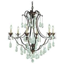paige crystal chandelier 6 light bronze chanlier reviews full size
