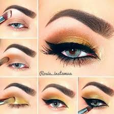 step by step gold eye makeup