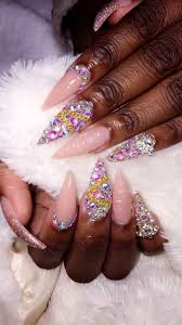 The 25+ best Nails with diamonds ideas on Pinterest | Bling nails ...