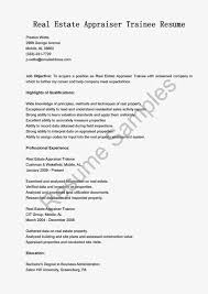 Career Objective For Real Estate Resume Real Estate Appraiser Resume Resume Format For Job Purpose