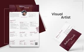 Melissa Woods Visual Artist Resume Template 65243 Design