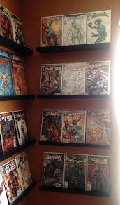 comic book display ideas decorating idea long minimal ledge shelf design for displaying comics comic book comic book wall display ideas