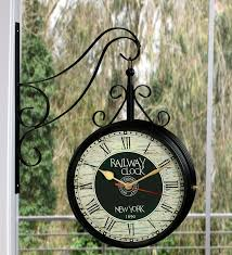 8 inch station clock two side