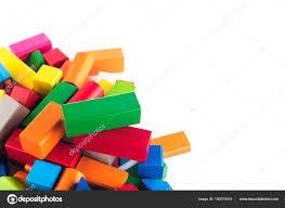 Designer Childrens Toys Wooden Toys Colorful Childrens Designer On White