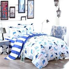 shark crib bedding fish bedding sets cobalt blue and white shark fish ocean wonders marine life shark crib bedding