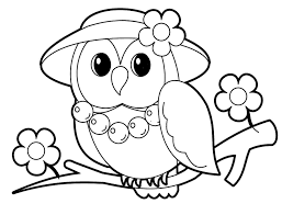 Cute Owl Coloring Pages Pictures Best Free 1047