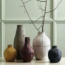 pottery barn vases tall floor large glass vase mercury la