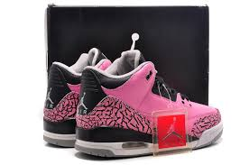 jordan shoes for girls black and pink. for sale air jordan 3 retro cherry pink black-cement girls online-3 shoes black and
