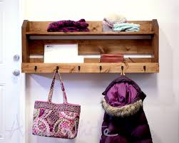 small pallet inspired coat rack with shelves