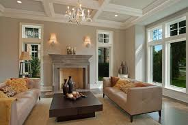interior admirable gray wall paint indoor stone fireplace design inspiration with stylish bright brown leather