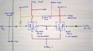 double relay demystified has started and the key is moved from the start position back to the on position power is removed from the starter solenoid and the fuel pump relay