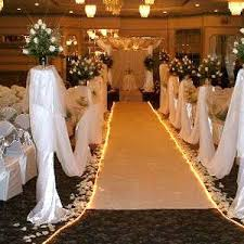 ways to spruce up your wedding aisle runner alluring aisle runners Wedding Aisle Runner Decorations rope lighting border the aisle runner with holiday lights or rope lighting for an easy way to make your aisle shine simple to set up, it turns the aisle wedding aisle runner ideas