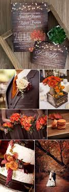 ideas burnt orange: brown and orange fall and autumn wedding ideas and invitations