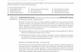 Personal Trainer Resume Sample Fitness Instructor Template Gym Cv At ...
