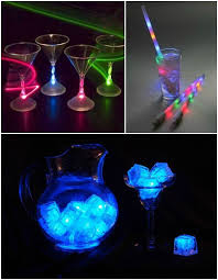 lighting for parties ideas. glow in the dark party ideas led lightup glasses u0026 ice cubes for lighting parties