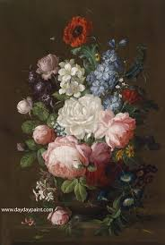 fl oil paintings flower paintings by famous artists hwp023 photo to paintings