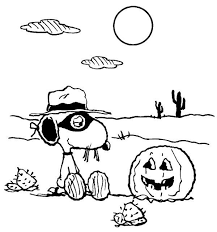 Small Picture Halloween Coloring Pages Snoopy Charlie Brown Coloring