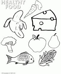 Awful Healthy Food Coloring Pages For Preschool Printables And