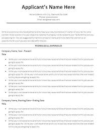 Chronological Words Free Chronological Resume Template Free Chronological Resume