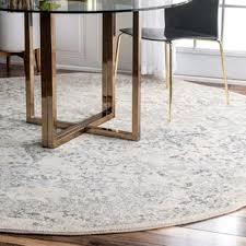 Round dining room rug Foot Youati Ivorygray Area Rug Wayfair Round Rugs Youll Love Wayfair