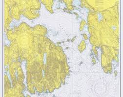 1953 Nautical Chart Map Of The Upper Niagara River Etsy