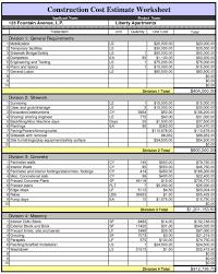 Home Construction Estimator Excel Spreadsheet For Estimating Construction Costs Cost Estimate