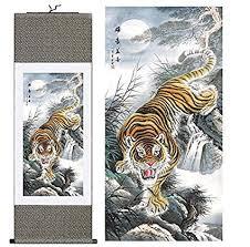 chinese tiger drawing. Modren Drawing NWFashion Ancient Chinese Tiger Drawing Priting Silk Painting Hanging  Tiger 1 Inside