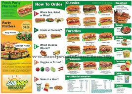 subway menu prices. Simple Subway Subway Picture Menu For Prices I